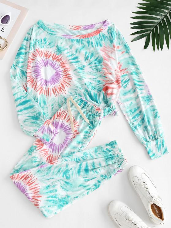 buy Tie Dye Lounge Sweat Two Piece Set - MULTI-A S
