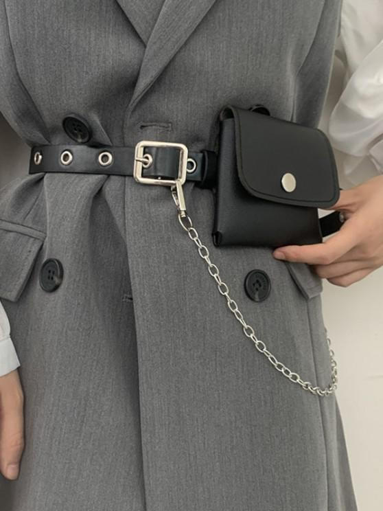 shops Punk Chain Bag O Ring Belt - BLACK