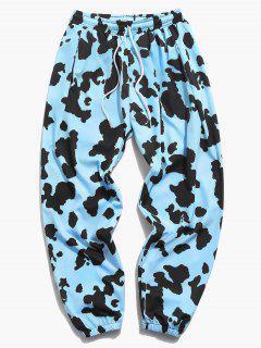 Pantalon De Jogging Vache Imprimée Partout - Bleu Clair 3xl