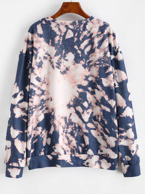 Drop Shoulder Tie Dye Sweatshirt - متعددة-A S Mobile