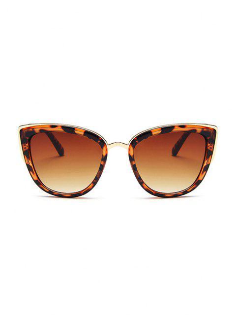 shop Retro Leopard Kitty Eye Sunglasses - LEOPARD  Mobile