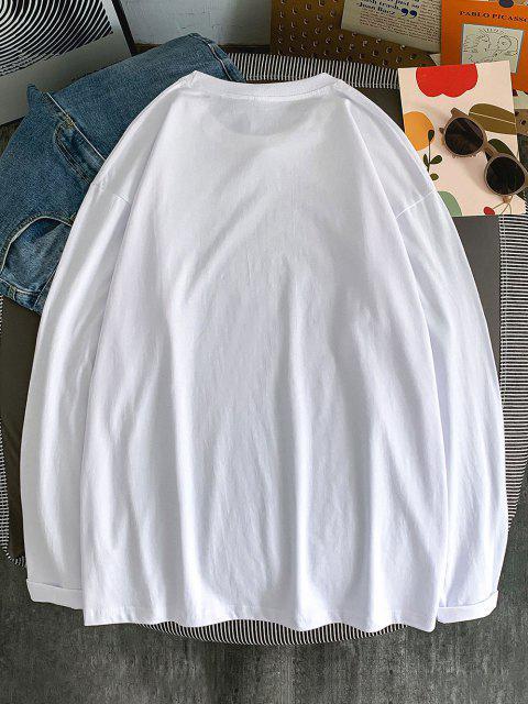 Maglietta a Girocollo con Stampa a Slogan - Bianca L Mobile