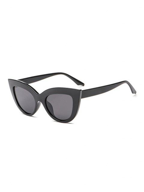 hot Wide Rim Retro Sunglasses - BLACK  Mobile