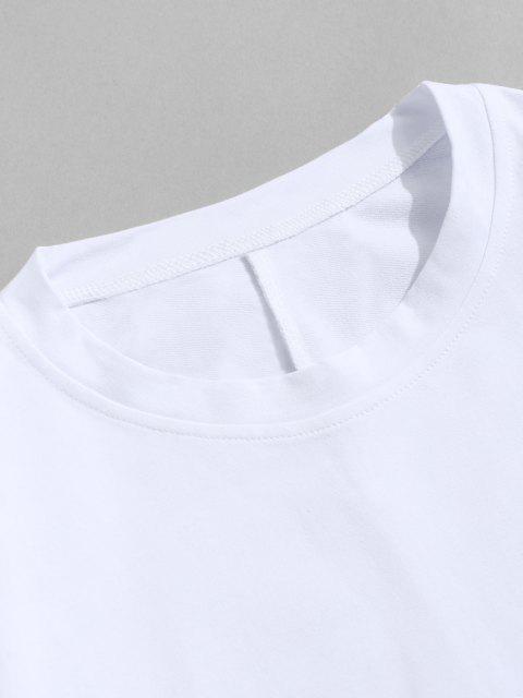 best Pure Color Zipper Sleeve Crew Neck Sweatshirt - WHITE XL Mobile