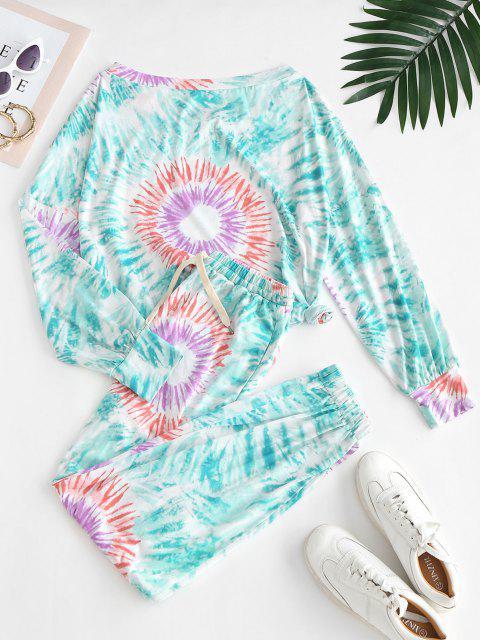buy Tie Dye Lounge Sweat Two Piece Set - MULTI-A S Mobile