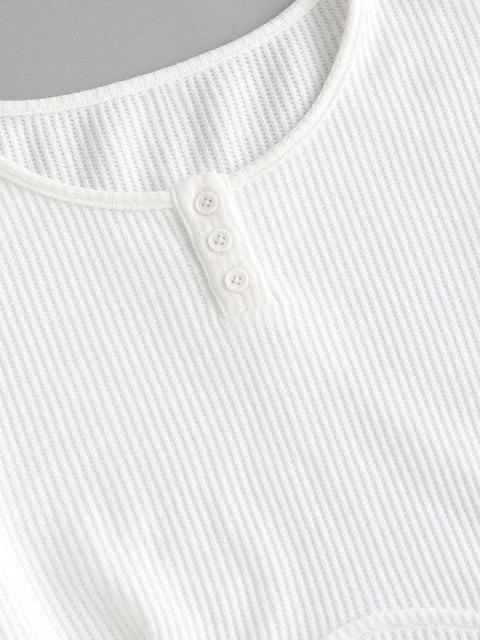 ZAFUL T-shirt Court Détaillé - Blanc M Mobile