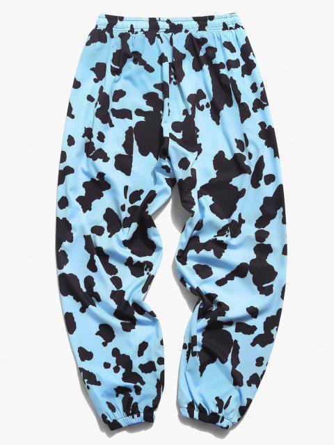 Pantalones Jogger con Estampado de Vaca - Azul claro 2XL Mobile