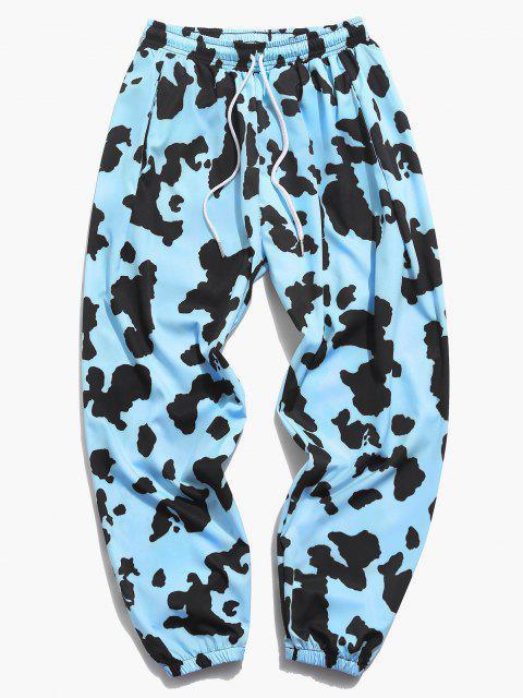 Pantalones Jogger con Estampado de Vaca - Azul claro 4XL Mobile