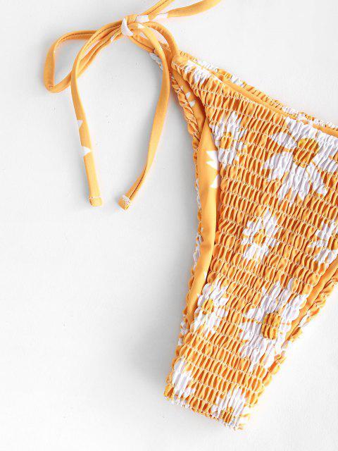 Costume da Bagno Bikini Stampato Margherita di ZAFUL - profondo Giallo M Mobile