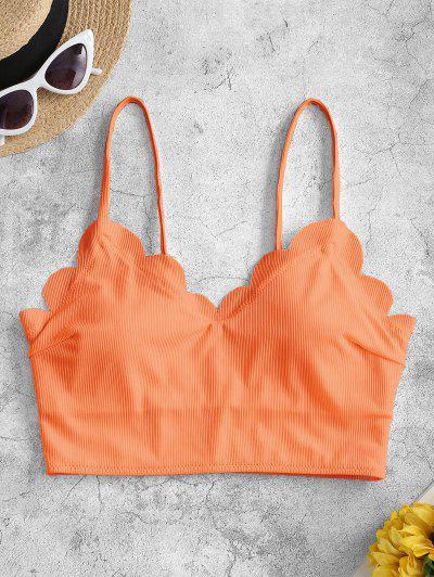 ZAFUL Gepolstertes Bikini-Top Mit Wellenschliff - Orange 2xl