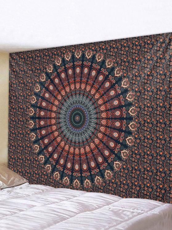 women's Bohemian Digital Print Flower Waterproof Tapestry - MULTI W91 X L71 INCH