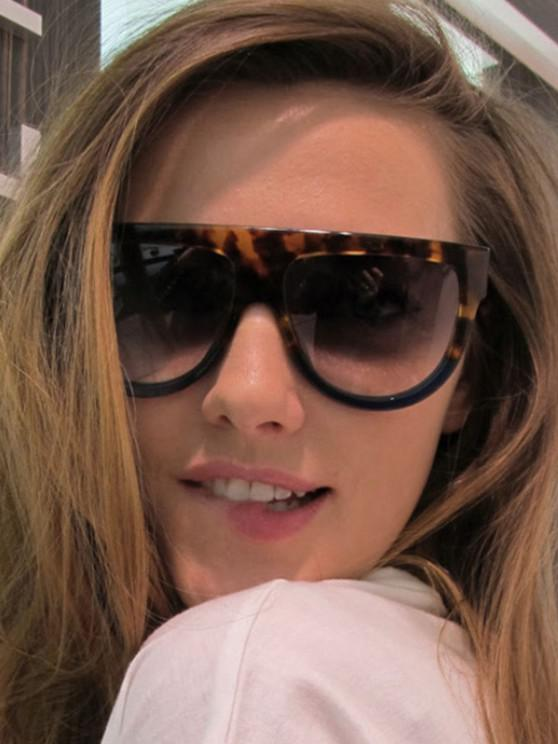 Retro Leopard Gradient Sunglasses - فهد