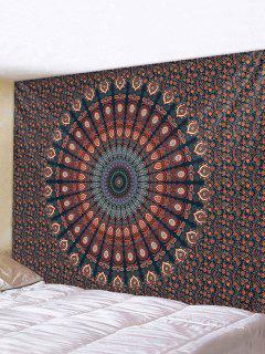 Bohemian Digital Print Flower Waterproof Tapestry - Multi W59 X L51 Inch
