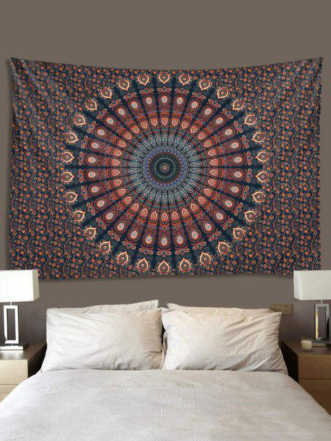 women's Bohemian Digital Print Flower Waterproof Tapestry - MULTI W91 X L71 INCH Mobile