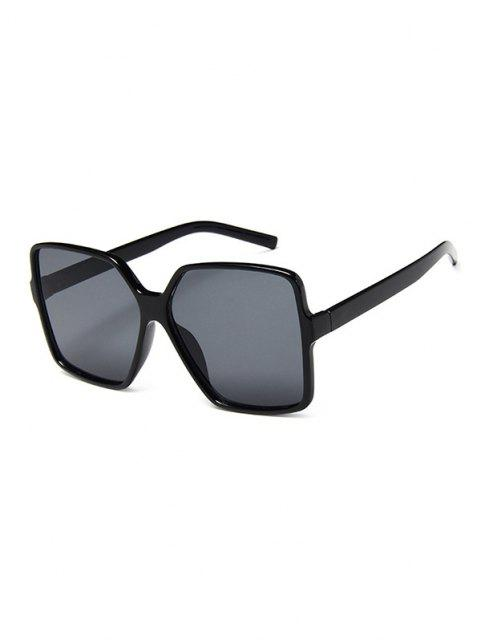 trendy Square Retro Oversized Sunglasses - BLACK  Mobile
