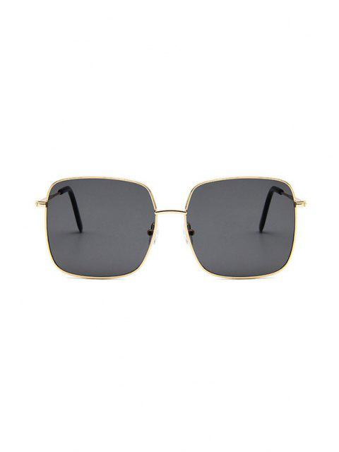outfits Square Metal Beach Sunglasses - BLACK  Mobile