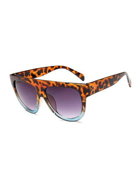 shop Retro Leopard Gradient Sunglasses - LEOPARD  Mobile