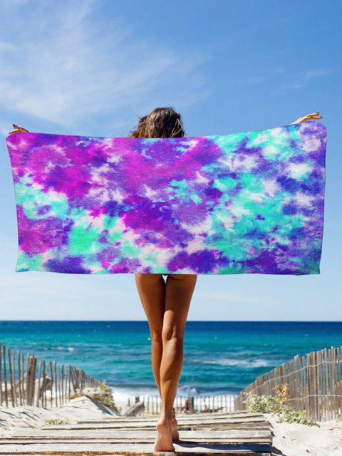 new Colorblock Tie Dye Seaside Beach Throw - PURPLE 75 X 150CM Mobile