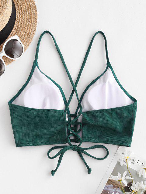 Bikini Top di ZAFUL con Lacci Incrociati con Spalline - Verde intenso S Mobile