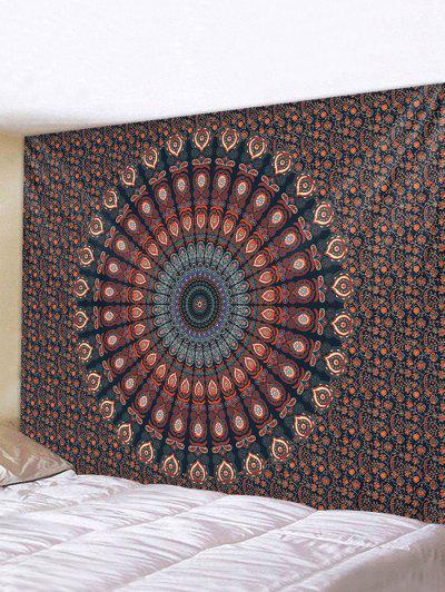 Bohemian Digital Print Flower Waterproof Tapestry - Multi W91 X L71 Inch