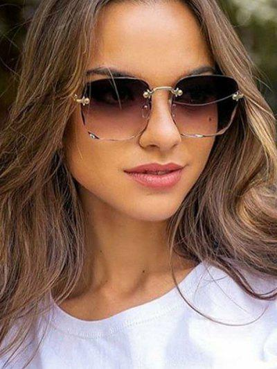 Gradient Cutting Edge Rimless Sunglasses - Concord