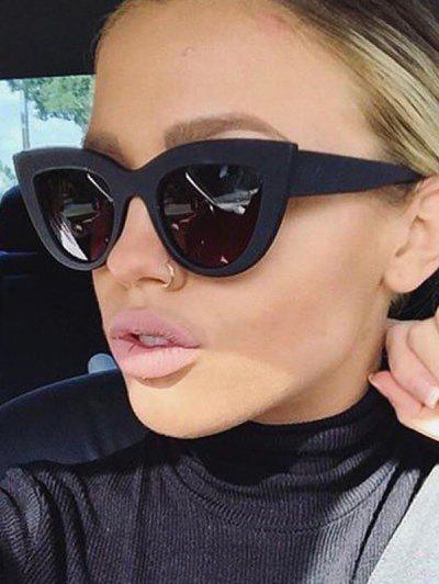 Animal Eye Shape Full Frame Sunglasses - Black