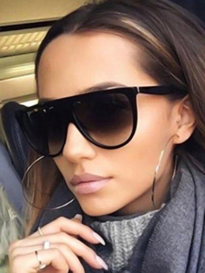 Full Frame Oversized Sunglasses - Black