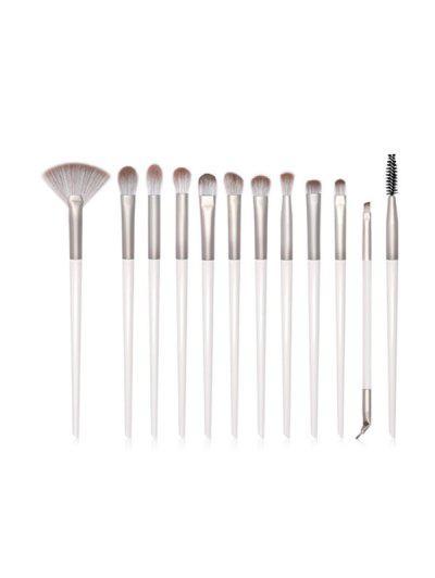12Pcs Eye Makeup Brushes Set - White