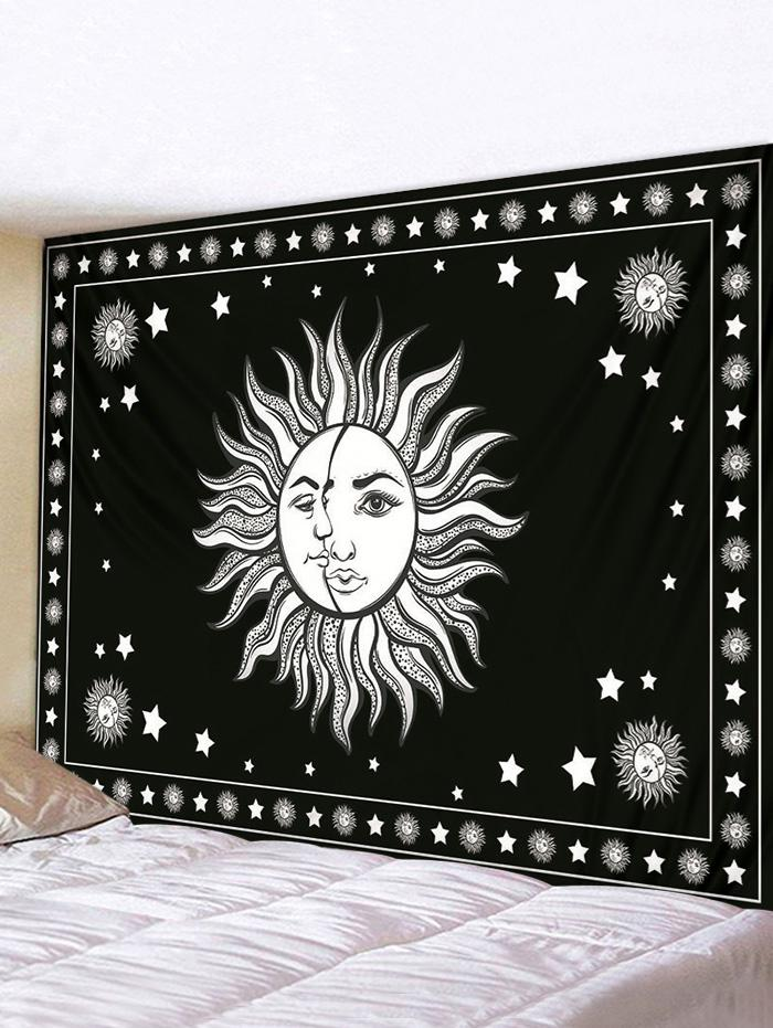 Digital Printing Moon And Sun Waterproof Tapestry