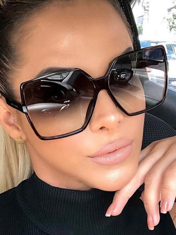 Square Retro Oversized Sunglasses