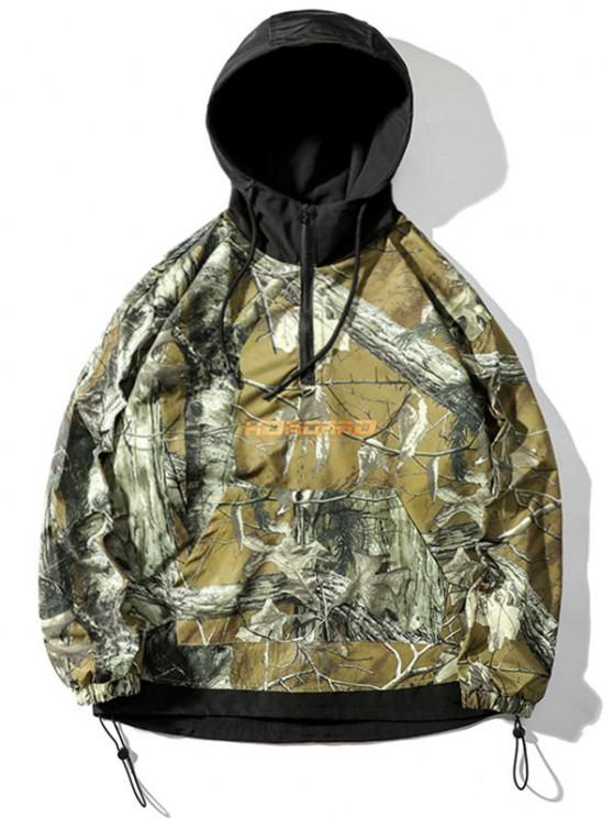 Tree Branched Letter Pullover Hooded Jacket - ACU التمويه 2XL