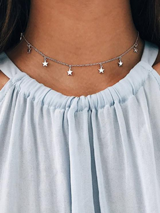 latest Star Choker Chain Necklace - SILVER