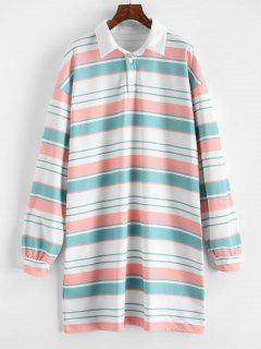 Robe Sweat-shirt Droite Rayée - Multi M