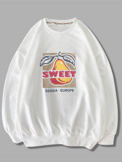 Sweat-shirtMotifdeFruitsDoux à Col Rond - Blanc 2xl