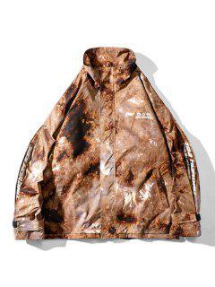 Veste Bouclée Teintée Lettre Imprimée à Cordon - Acu Camouflage L
