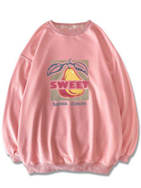Sweat-shirtMotifdeFruitsDoux à Col Rond - Rose  2XL Mobile
