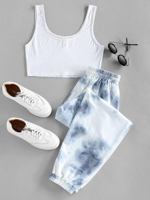 buy ZAFUL Crop Top and Drawstring Jogger Pants Set - MULTI XL Mobile