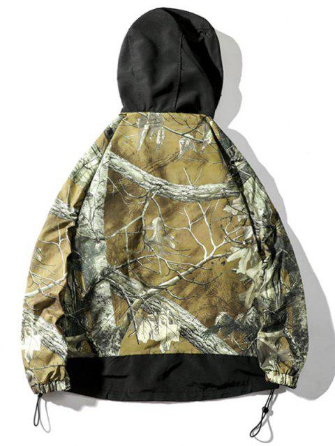 hot Tree Branched Letter Pullover Hooded Jacket - ACU CAMOUFLAGE 3XL Mobile