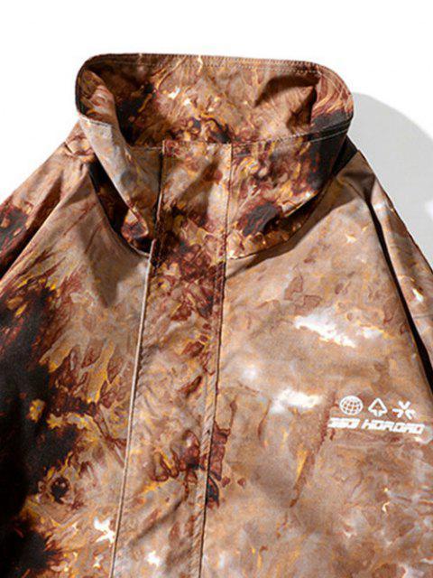 Jaqueta com Cordão de Tintura de Alternância de Laço - ACU Camuflagem XL Mobile