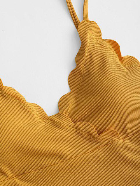Costume da Bagno Tankini di ZAFUL a Costine - profondo Giallo S Mobile