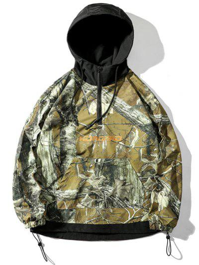 Tree Branched Letter Pullover Hooded Jacket - Acu Camouflage L