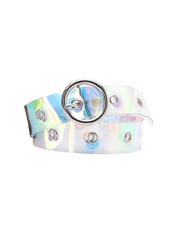 O-ring Buckle Iridescent Pattern Waist Belt