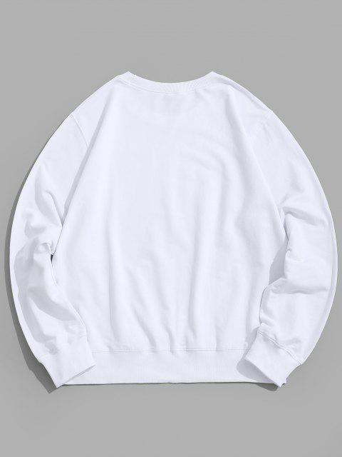 women Rainbow Graphic Lounge Crew Neck Sweatshirt - WHITE XS Mobile