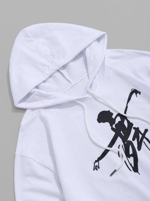 Chinesische Willkommene Kalligraphie Tasche Tunnelzug Hoodie - Weiß XS Mobile