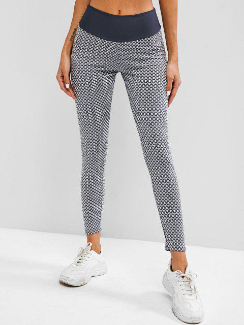 shop Honeycomb Scrunch Bum High Waisted Leggings - LIGHT GRAY M Mobile