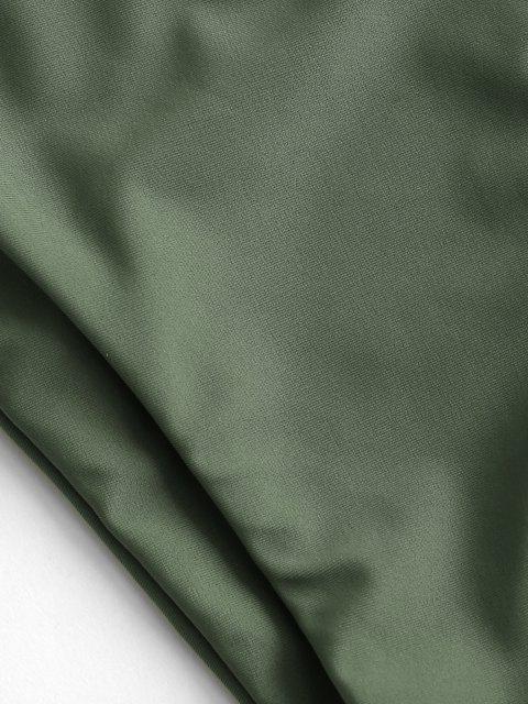 ZAFUL Kariert Gebundener Bikini Badebekleidung - Hellgrün L Mobile