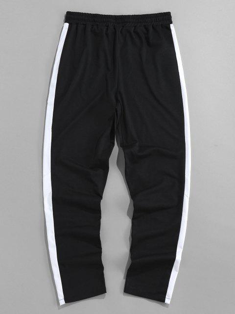 ZAFUL Pantalones Deportivos con Estampado de Letras - Negro L Mobile