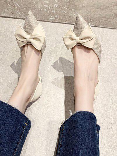 Sapatos De Salto Alto Com Bico Fino - Bege Ue 39
