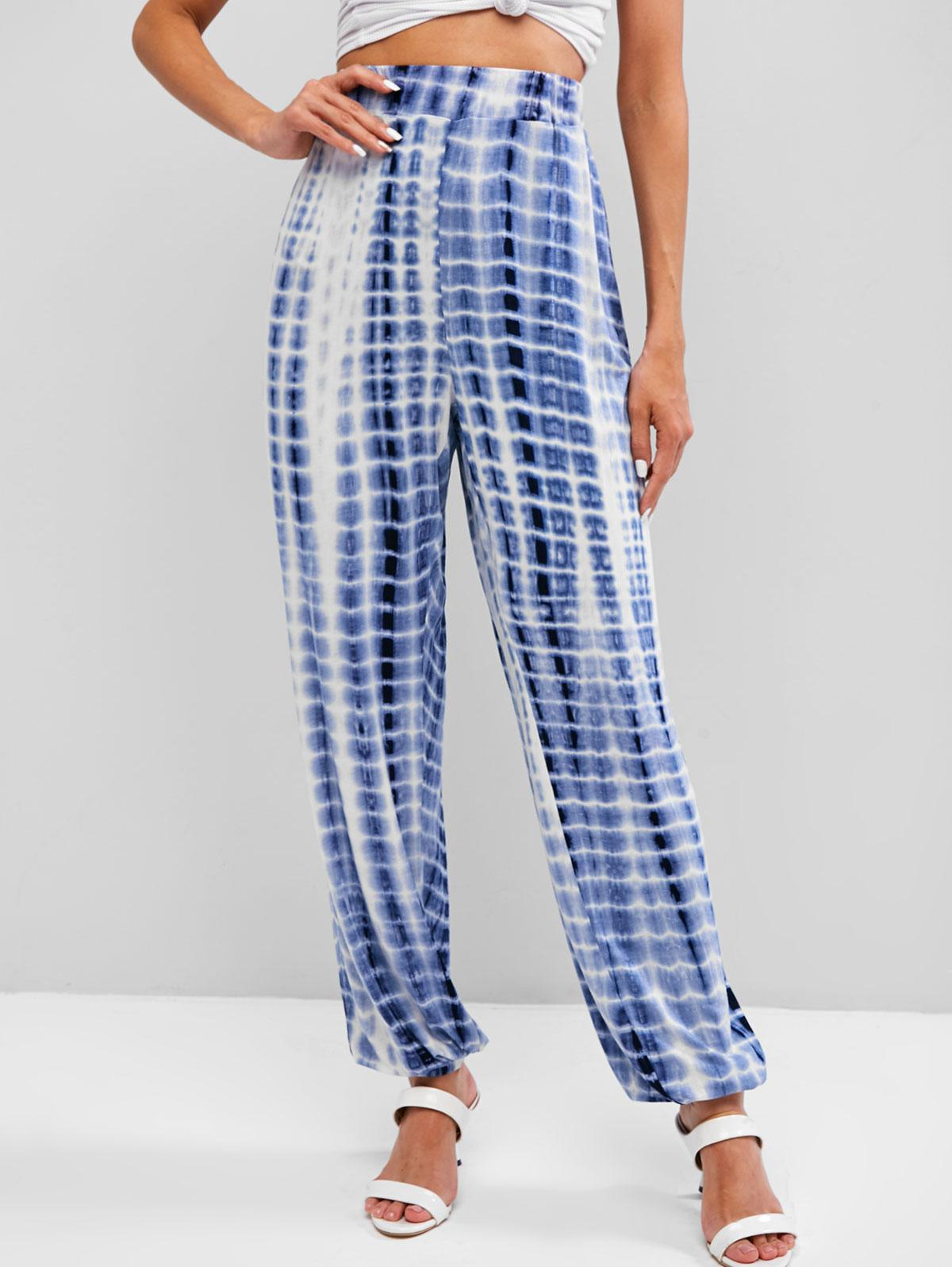 High Waisted Tie Dye Jogger Pants