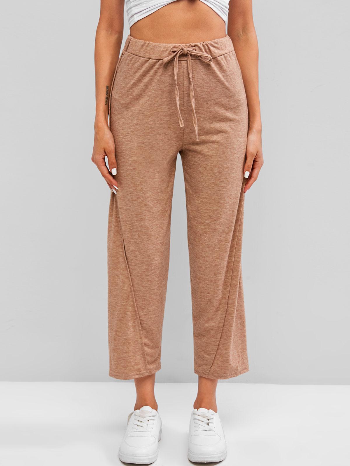 Drawstring Twisted Jersey Pants